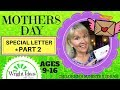 MOTHERS DAY LESSON (part 2) Special letter for Mom (KIDS & YOUTH)