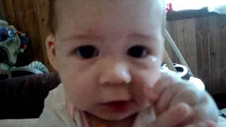 baby eats sweet potatoes at 4 1 2 months blw