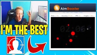 Tfue Showing You How to Have 100% *AIM ACCURACY* In Fortnite!! (AimBooster)