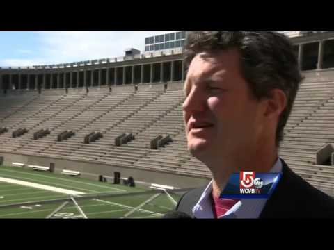 Drone technology demonstrated at Harvard Stadium