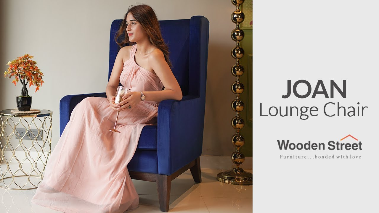 Designer Lounge Chair | Joan Wingback Chair Design by WoodenStreet