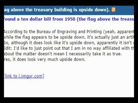Upside Down Flag Found On Top Of Treasury Building On A 1950 10 Dollar Bill