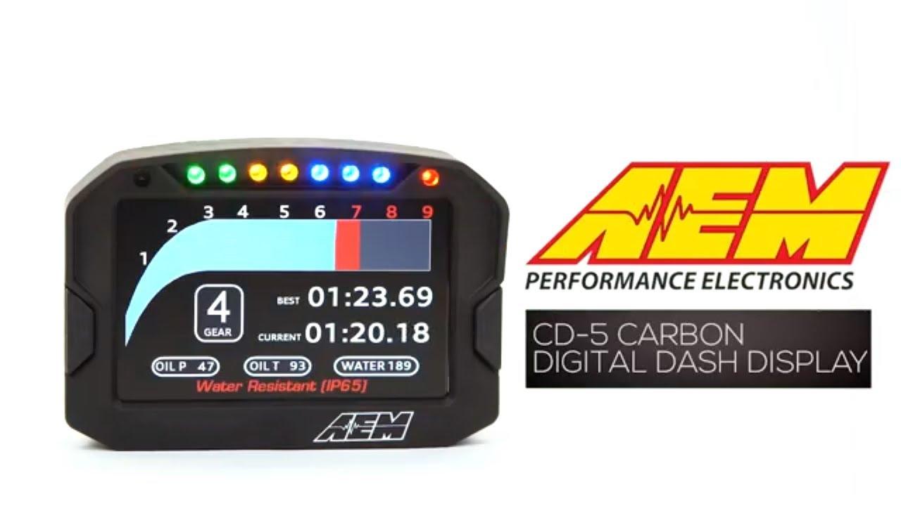 CD-5 Carbon Digital Racing Dash Displays | AEM