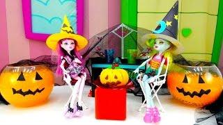 Видео для детей. Хэллоуин с Монстер Хай и Плей До