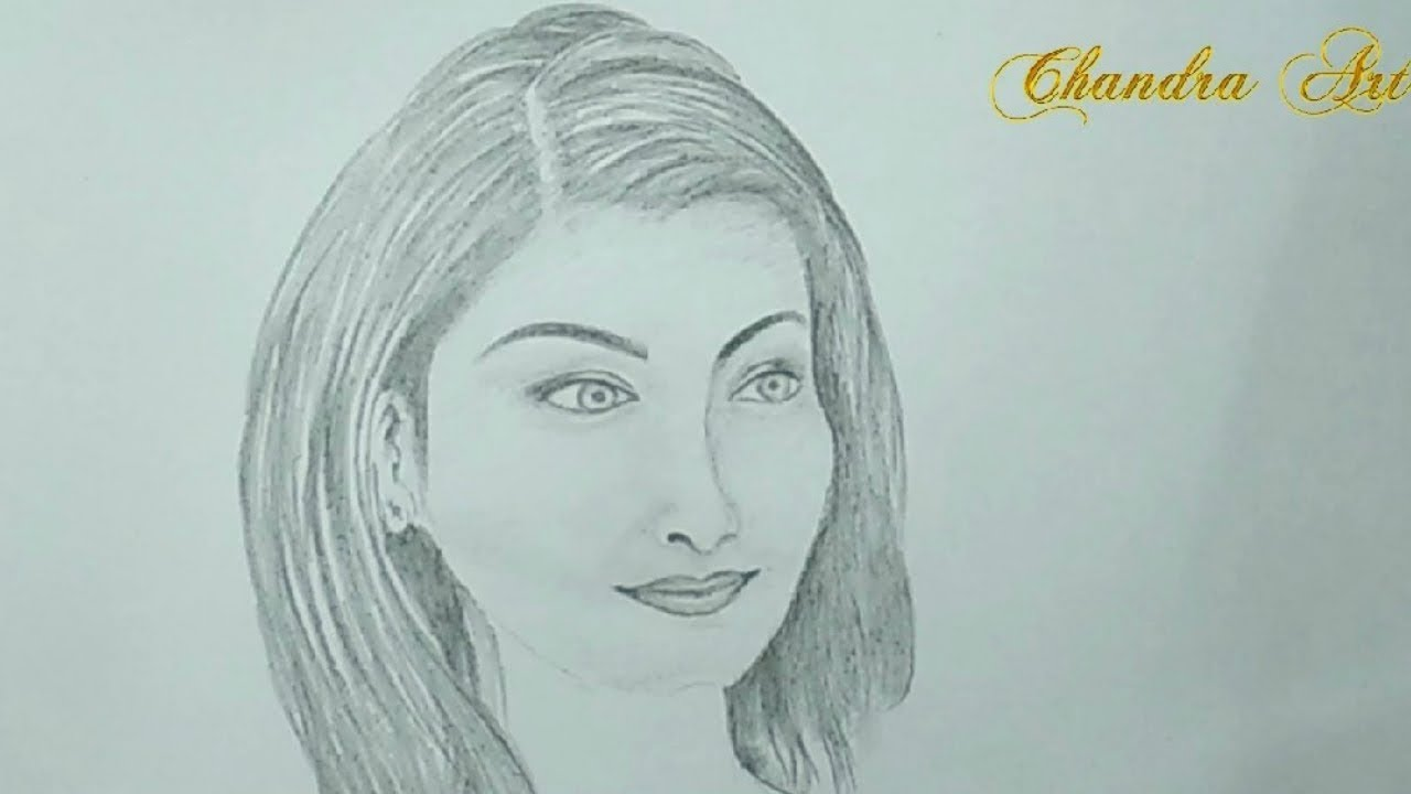 Pencil drawing how to draw a beautiful girl face step by step