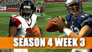 BRADY AND VICK DUEL - FALCONS FRANCHISE VS PATRIOTS - MADDEN 07 PS2 - S4W3