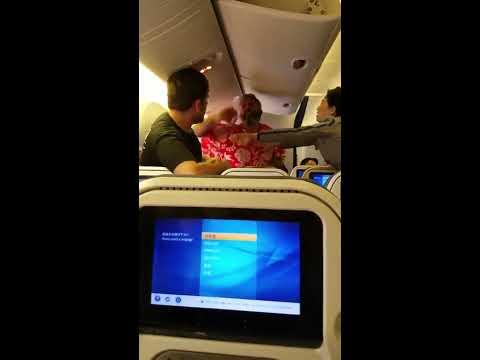 Footage Brutal Fight All Nippon Airways (ANA) flight from Tokyo's Narita International Airport
