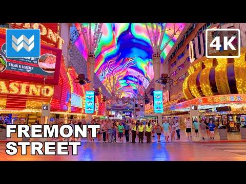 Fremont Street Experience - Las Vegas Walking Tour - Travel Guide 【4K】