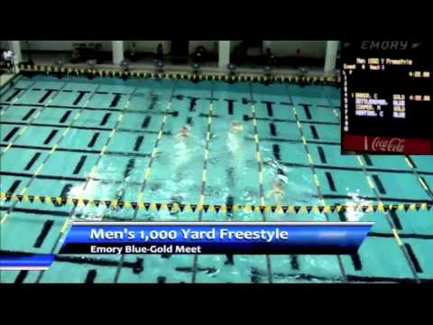 Rowdy Gaines narrates Emory intrasquad 1000 freestyle