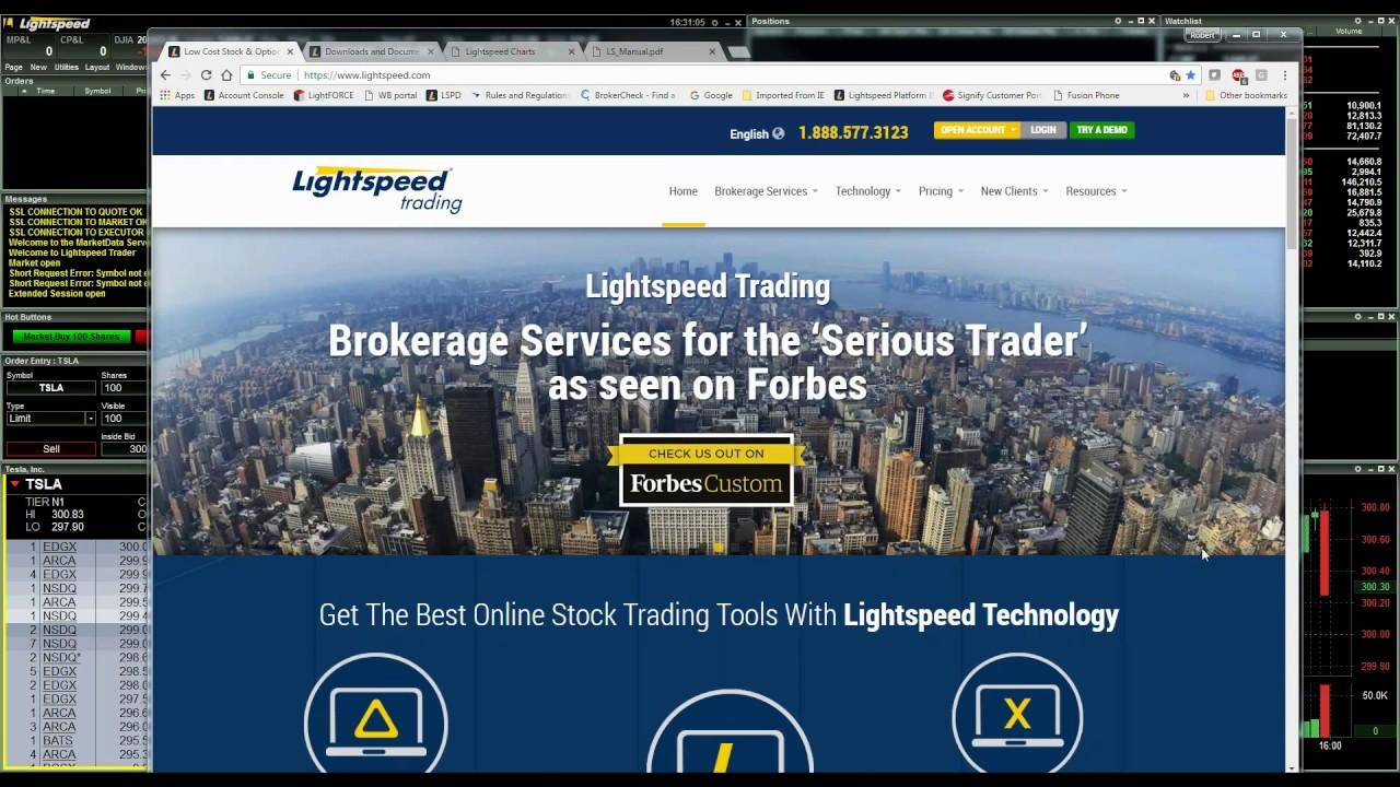 Lightspeed Trader Platform Customize Your Layout Youtube
