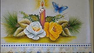 Aprenda com Roberto Ferreira a pintar rosas natalinas