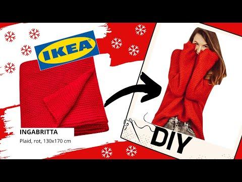 IKEA HACK - DIY Kuschelpullover aus IKEA Decke OHNE Schnittmuster