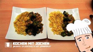 Brokkoli mit Hühnerbrust in Kokosmilch und Safranreis mit Mais - [Kochen mit Jochen] - #2