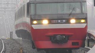 名鉄2020富士松駅【1000系通過】