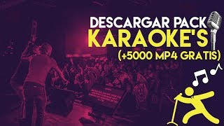 Descargar Pack de +5000 KARAOKES en MP4 (GRATIS) | 2017 LATIN POP, CROSSOVER, DESPECHO, SALSA Y MÁS♫