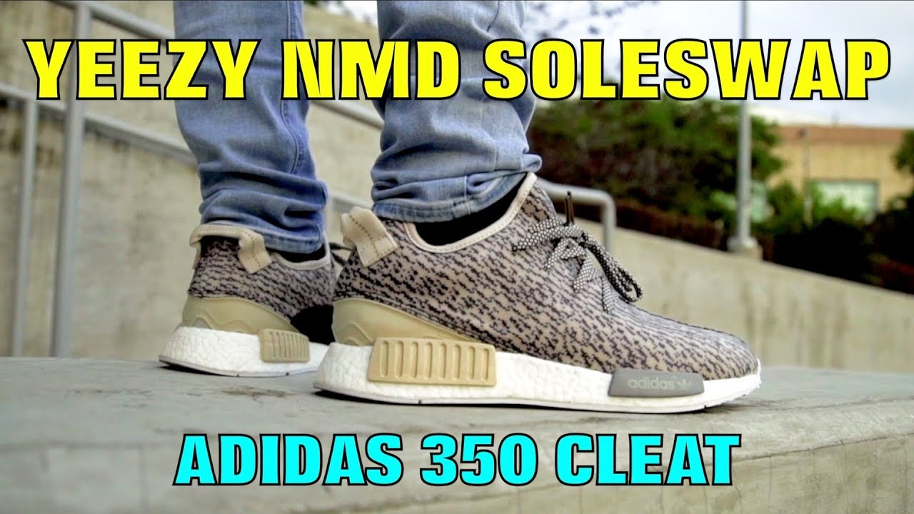 promo code c3e9a c66fb YEEZY 350 CLEAT NMD SOLESWAP!! (MUST WATCH)