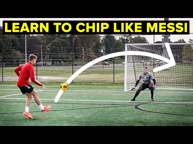 How To Chip The Goalkeeper like Messi | Learn football skills