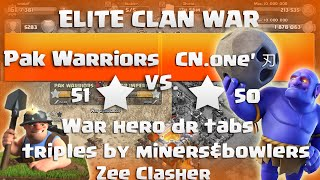 "Clash Of Clans | ELITE WAR - Pak Warriors vs CN.one' 刃 - 14 x 3 Stars Attacks ""TH11 vs TH11"""
