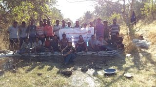 NSS Students of TCOER building a Bandhara | NSS activity Trinity College of Engineering and Research