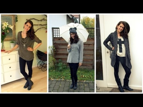 3 herbst outfits 2017 wie trage ich meine leggings. Black Bedroom Furniture Sets. Home Design Ideas
