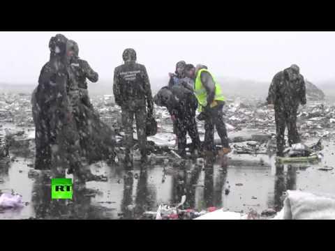 Кадры с места авиакатастрофы в Ростове-на-Дону
