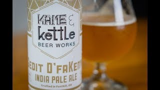 Kame & Kettle Gedit D'FuKenya IPA - #1076 - Maxwell Starr's Beer Review