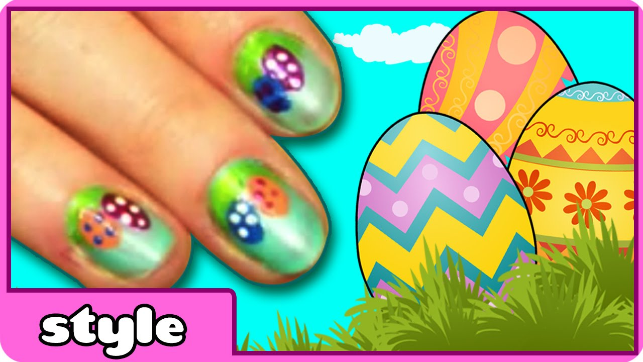 DIY Easter Nail Art: Cute and Easy Easter Egg Nail Art | Easter ...