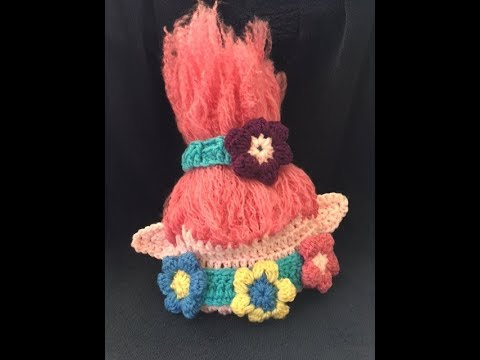 Crochet Troll hat - YouTube 22b57a09480