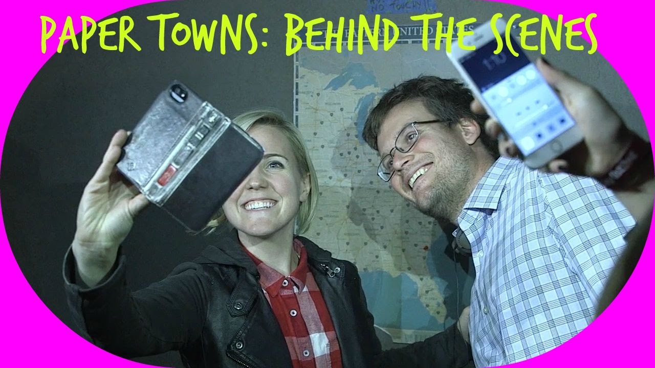 paper towns behind the scenes ft john green youtube