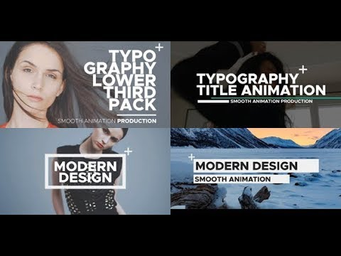 After Effects Template: Typography