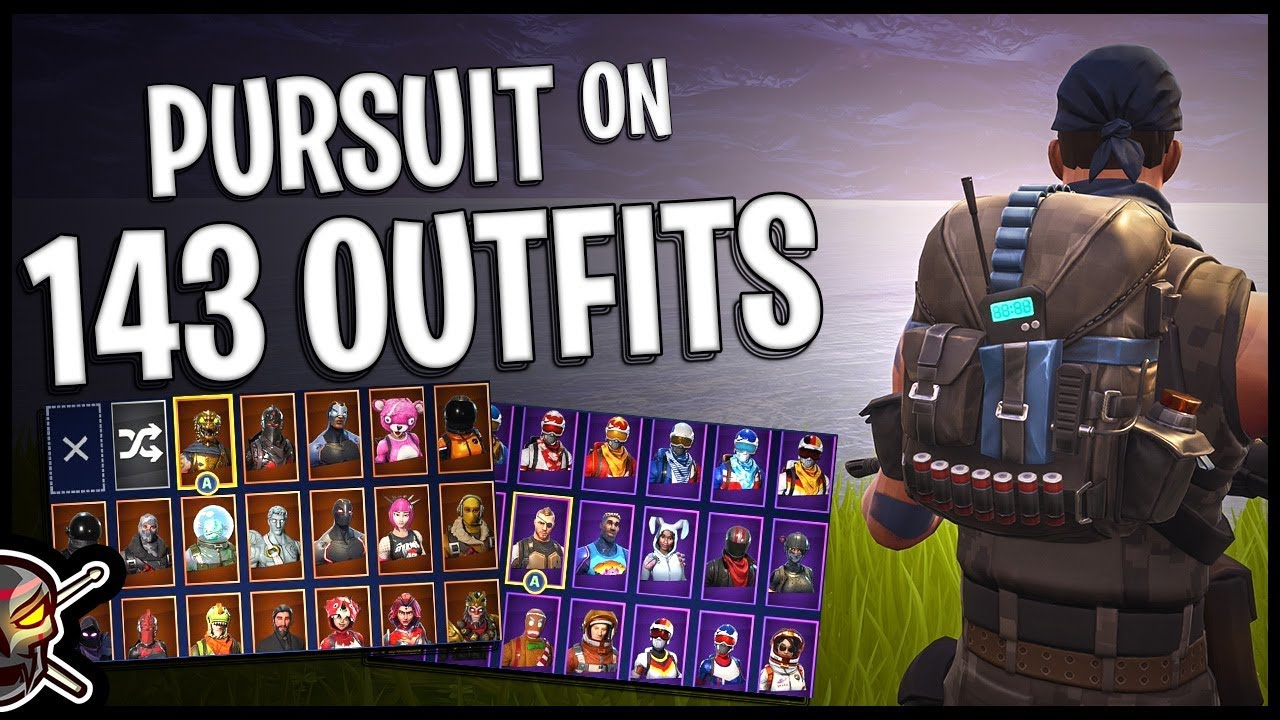 pursuit back bling on 143 outfits warpaint fortnite cosmetics - warpaint outfit fortnite