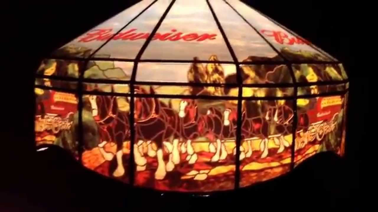 Budweiser Pool Table / Pub / Bar Beer Sign Light Hanging