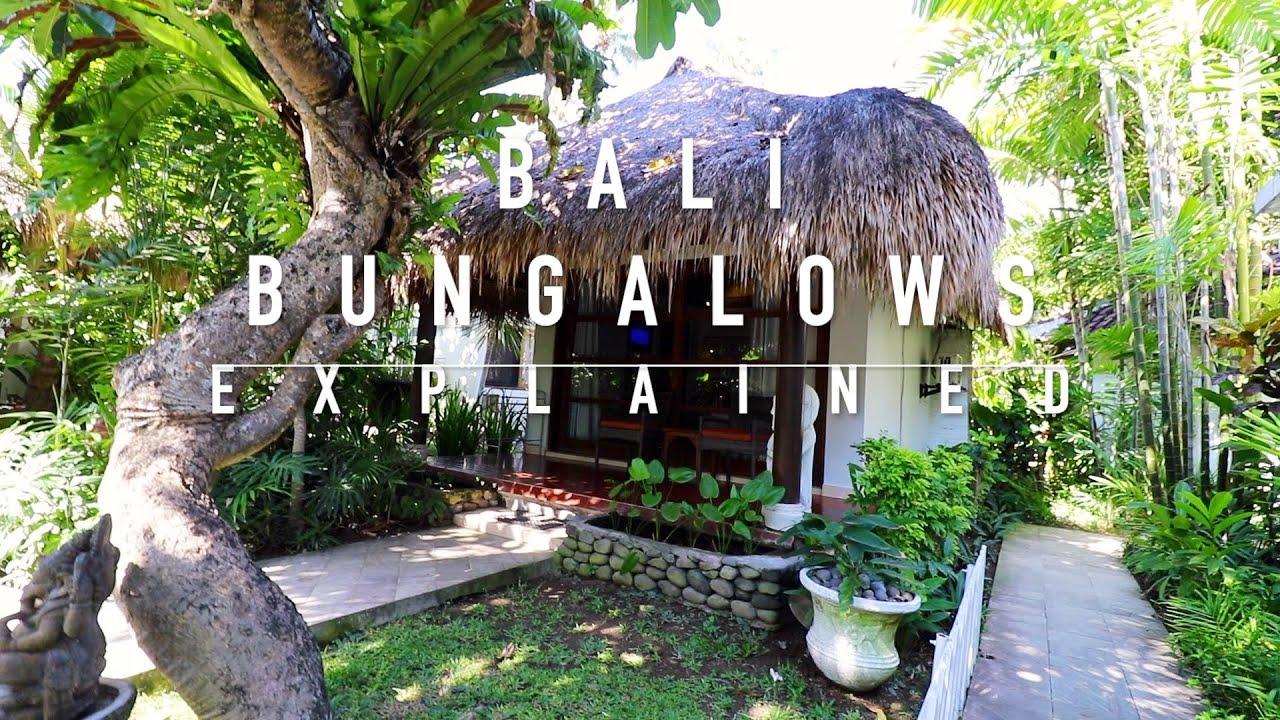 Bali Bungalows Explained Youtube