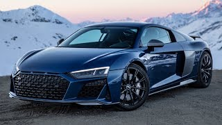 First NEW 2019/20 AUDI R8 V10 PERFORMANCE with AFTERMARKET WHEELS - 620hp Climbing the amazing Alps