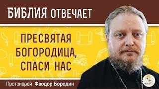 """Почему молятся: """"Пресвятая Богородица, спаси нас"""", если спасает только Христос? Прот. Феодор Бородин"""