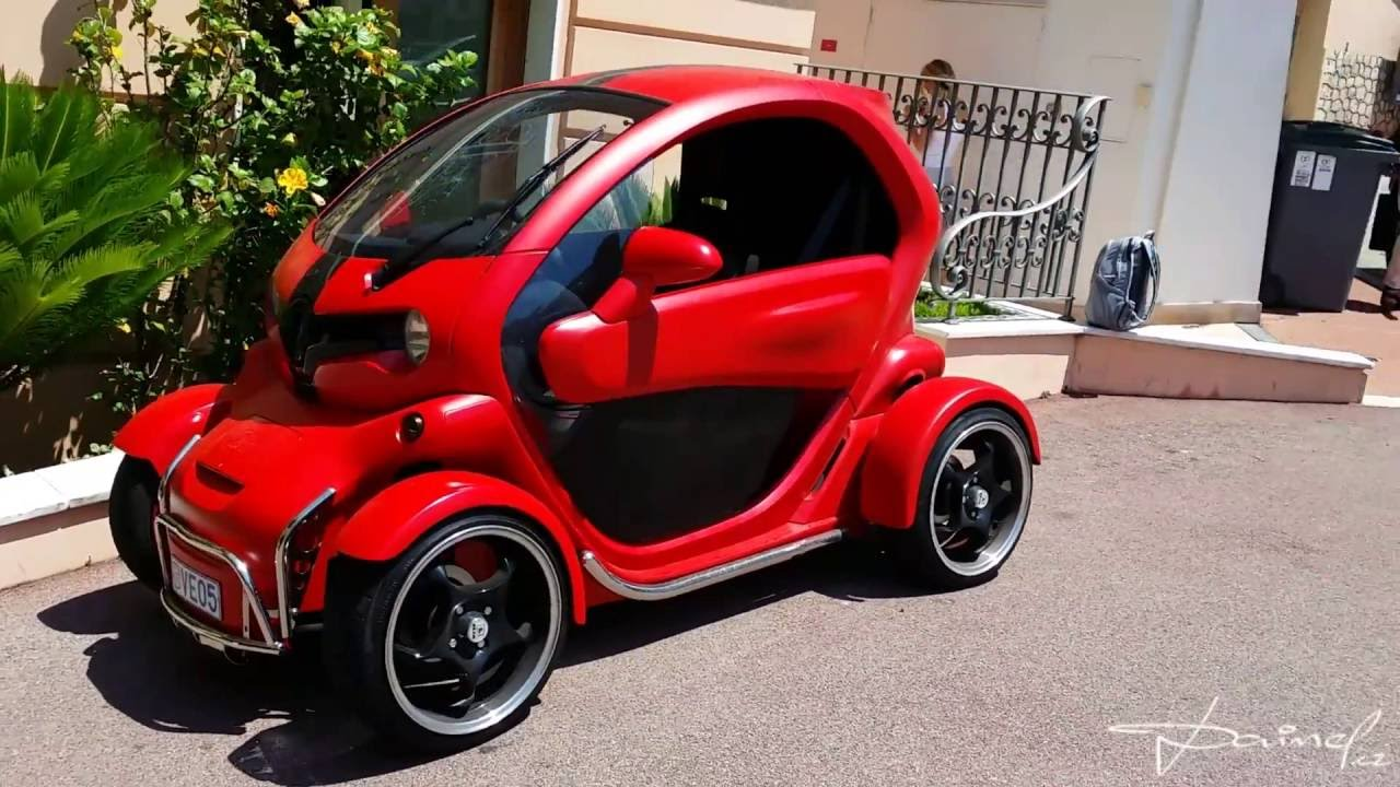 renault twizy red in monaco youtube. Black Bedroom Furniture Sets. Home Design Ideas