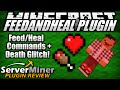 How to use Feed & Heal Commands in Minecraft with FeedAndHeal Plugin