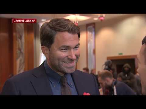EXCLUSIVE: Eddie Hearn on heated presser between Whyte & Chisora and on winner facing Anthony Joshua