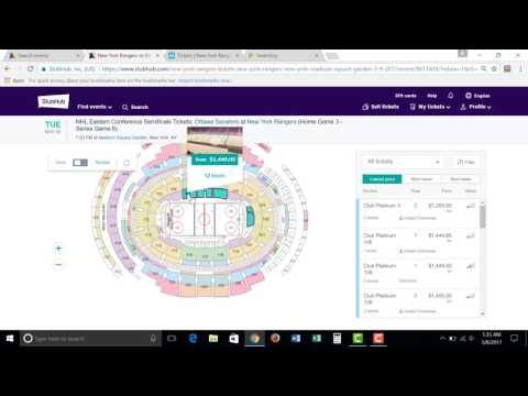 Venue Breakdown Madison Square Garden NHL -  Rangers Resale Guide