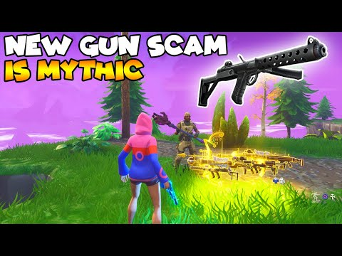 NEW Gun Scam Is Mythic! 💯😱 (Scammer Gets Scammed) Fortnite Save The World