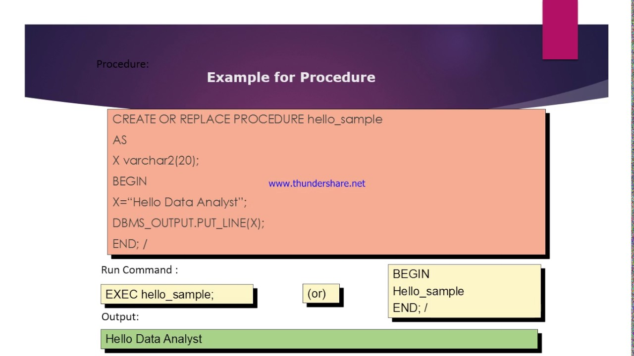pl sql tutorial 5 what is pl sql stored procedure give me an