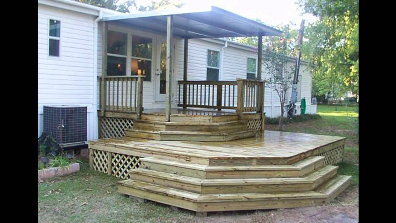 front porch designs for mobile homes.  Mobile home porch ideas YouTube