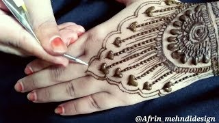 Heart design mehndi Art | New simple and easy Mehndi design 2018 /#Afrin_mehndidesign