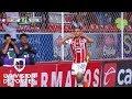 Carlos González marca el 1-0 de Necaxa sobre Monterrey