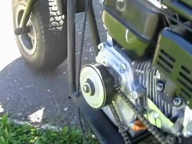 Cub Cadet - Predator 212cc mini bike(governor removed)Burnout!
