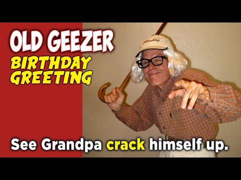 Old Geezer Birthday Greeting Las Vegas Nevada Youtube