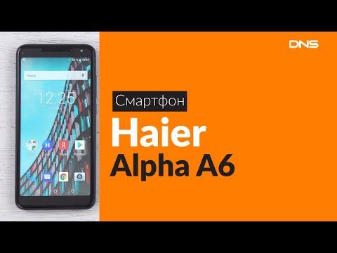 Распаковка смартфона Haier Alpha A6 / Unboxing Haier Alpha A6