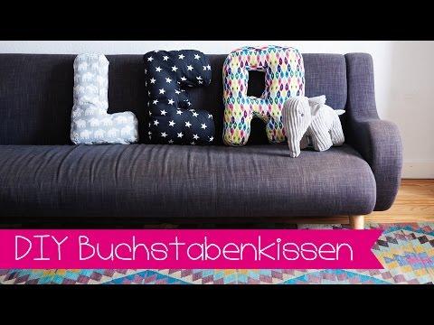 DIY | BUCHSTABENKISSEN SELBER NÄHEN I STOFFE.DE