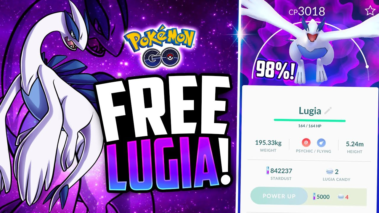 pokemon go free 98 iv lugia crazy legendary luck youtube. Black Bedroom Furniture Sets. Home Design Ideas