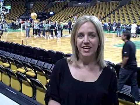 Boston Herald MediaBiz columnist Jessica Heslam at NBA Finals Game 3